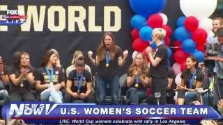 FNN: U.S. Women's Soccer Team Celebrates World Cup Win in LA - Duration: 34:58.