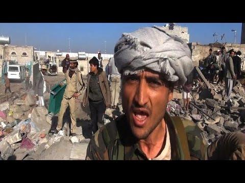 A Sanaa, des rebelles Houthis réagissent aux frappes saoudiennes