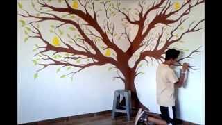 Aprende a pintar un arbol - decoración