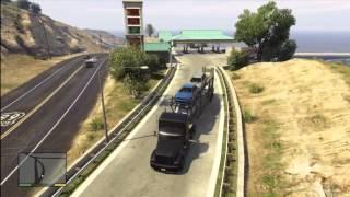 GTA 5 How To Open Car Hauler