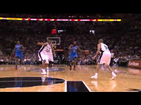 James Harden 30 points vs San antonio Spurs full highlights NBA Playoffs GM2 WCF 2012.05.29 HD