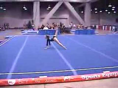 Alexis gymnastics floor routine the cup 2006 youtube for Floor gymnastics