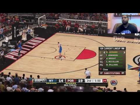 NBA LIVE 14 | LIVE COMMENTARY | Blazers Vs Knicks | ONLINE RANKED MATCH