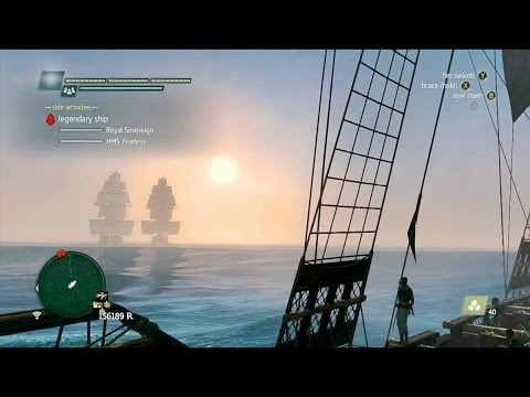 Assassin's Creed IV Black Flag - Twin Legendary Ships Combat (Royal Sovereign & HMS Fearless) [HD]