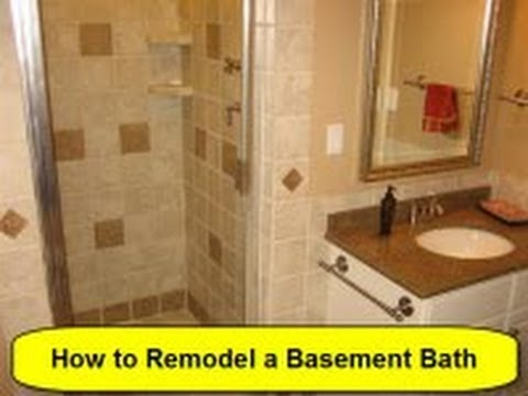 how to remodel a basement bath part 1 of 3