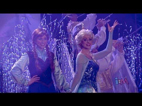 Full Frozen fireworks show with Anna, Elsa, Kristoff, Olaf in Summer Fun event at Walt Disney World