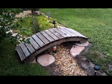 Garden bridge with free plans youtube - How to build a garden bridge with an arch ...