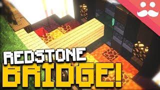 Minecraft WORKING DRAWBRIDGE!