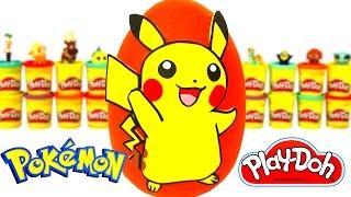 Pokemon Pikachu Sürpriz Yumurta Oyun Hamuru - Pokemon Pikachu Oyuncakları Frozen MLP
