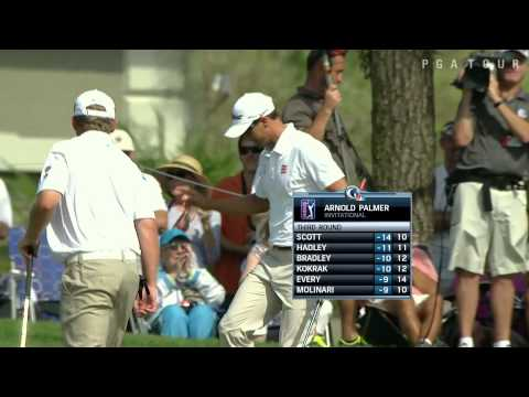 Adam Scott sinks 30-foot birdie at Arnold Palmer