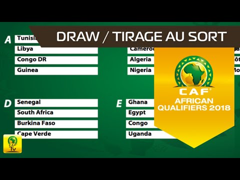 LIVE VIDEO: Follow the African Zone qualifiers draw live