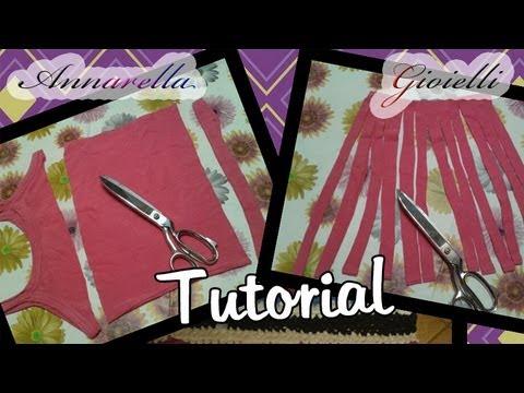 Tutorial  Creare la fettuccia dalle magliette  Riciclo ...