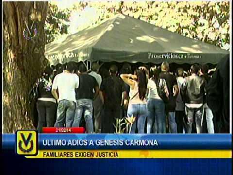 Sepelio de la estudiante y modelo Génesis Carmona se realizó en horas de la mañana de este viernes