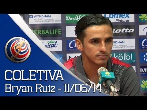 Rueda de prensa - Bryan Ruiz (11/06/14) - Costa Rica