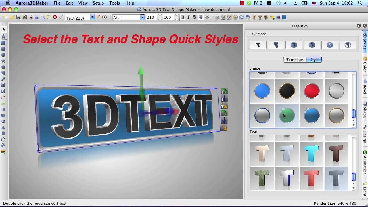 3d text & logo maker software free download
