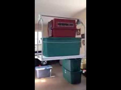 Versa lift garage to attic storage lift for Garage pack tole colomiers