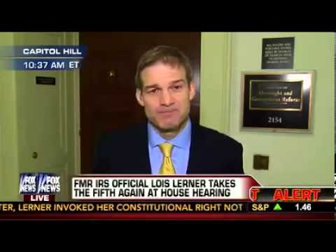 Rep. Jim Jordan addresses Lois Lerner's refusal to testify about her involvement in the IRS scandal.