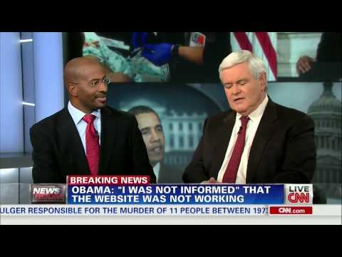 "Extended cut: Van Jones vs. Newt Gingrich on ""Fumbled"" Obamacare Rollout"