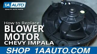 How To Install Replace Heater AC Blower Fan Motor 2006-12