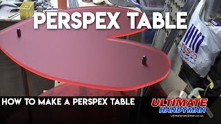 How to make a perspex heart shaped table