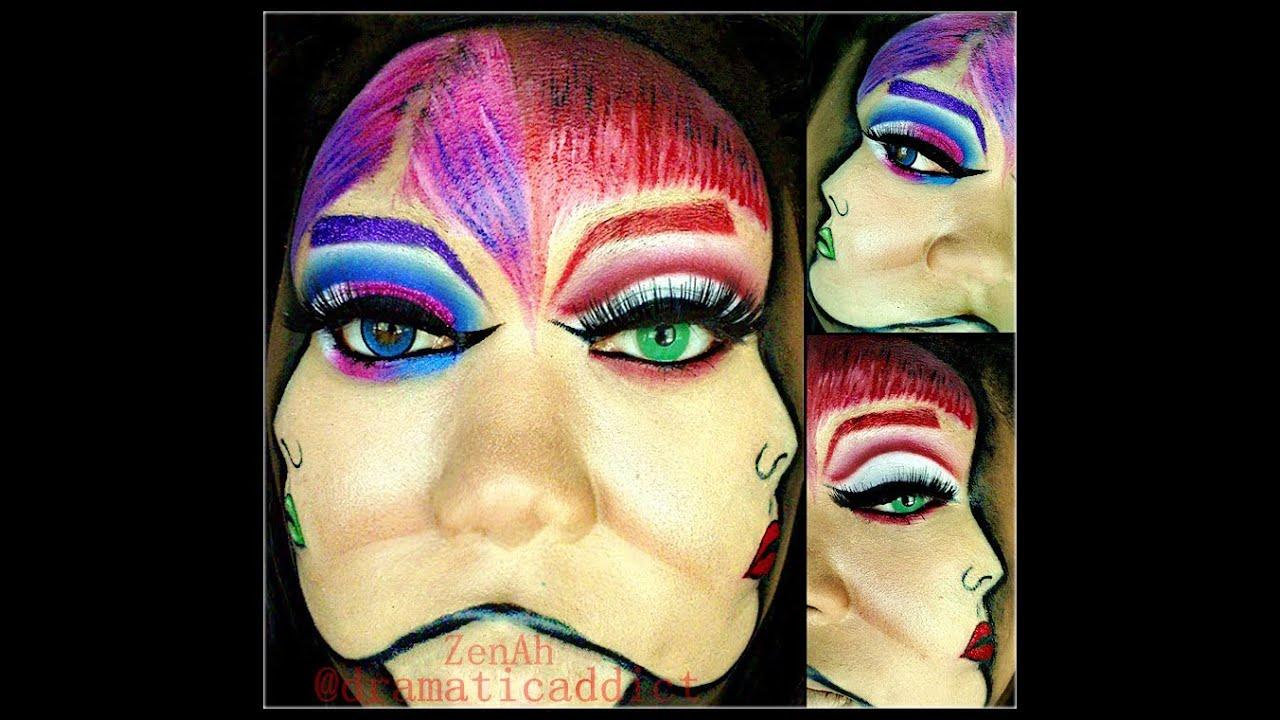Halloween Makeup » Two Face Halloween Makeup - Beautiful Makeup ...