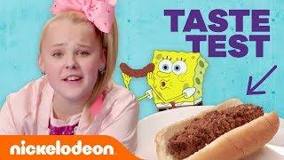 JoJo Siwa, Jade Pettyjohn & More in the 😋  Nickelodeon-Inspired Food Taste Test 🍔 (Part 2)   Nick