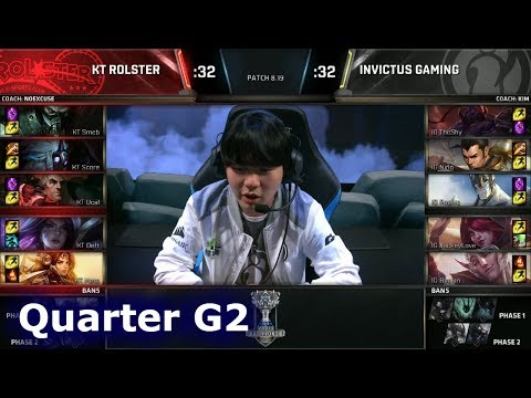 KT vs IG Game 2 | Quarter Final S8 LoL Worlds 2018 | KT Rolster vs Invictus Gaming G2