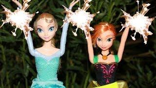 Frozen 4th of july disney elsa anna barbie celebrate sparklers