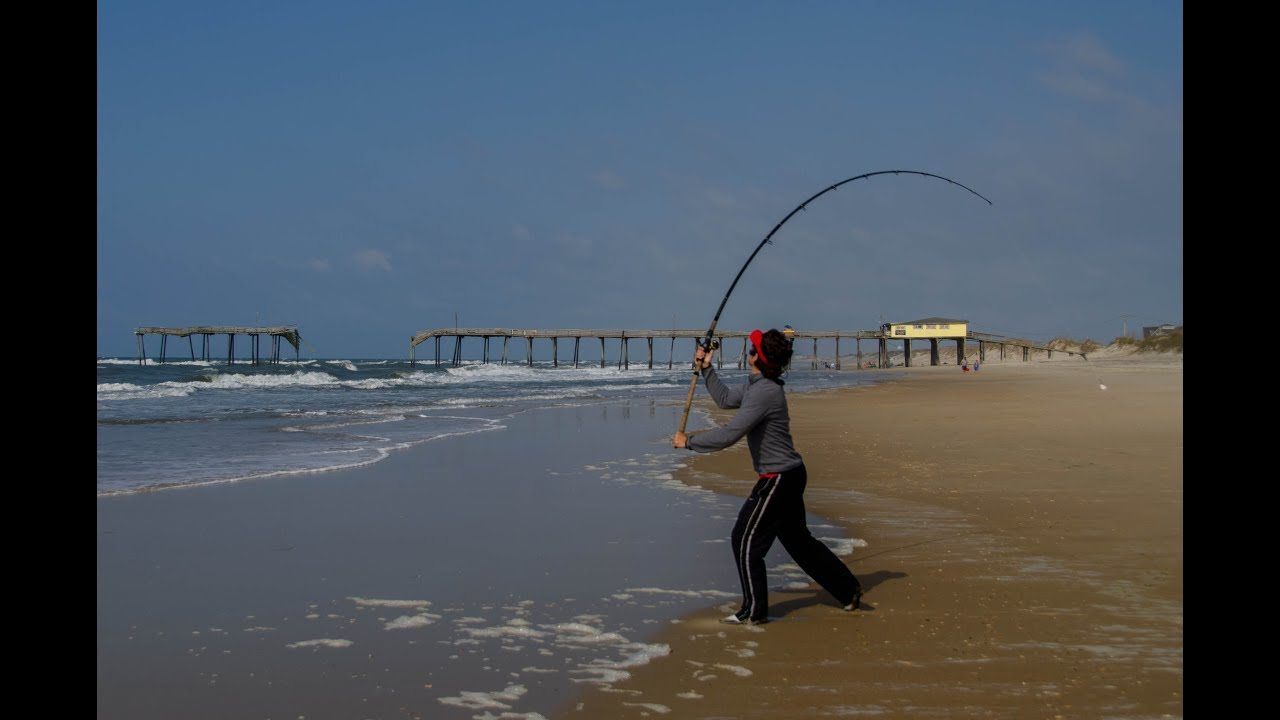 2014 surf fishing trip to nc outer banks youtube for North carolina surf fishing license