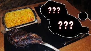 Juicy Tomahawk Steak Challenge w/ Surprise Birthday Dessert!!