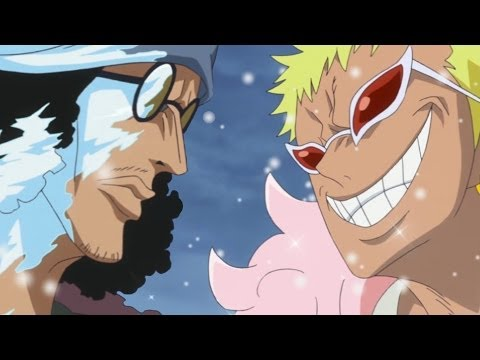 One Piece Episode 625 ワンピース Review -- Aokiji Vs Doflamingo - New World Is Real!!!, One Piece Episode 625 ワンピース Review -- Aokiji Vs Doflamingo