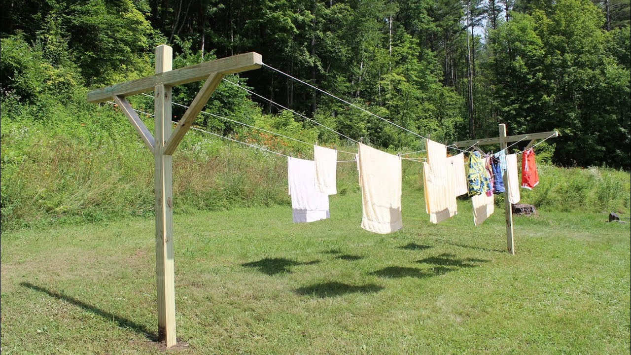 How To Make Build A Clothesline By Jon Peters Youtube