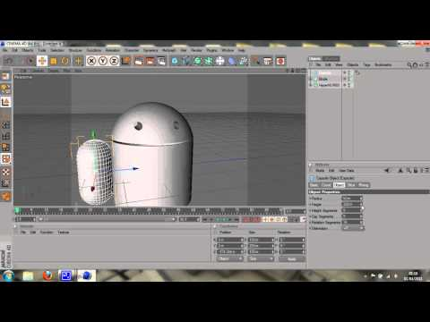 Model a simple Google Android - Cinema 4D Tutorial