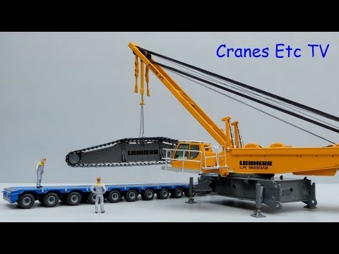 Cranes Etc TV:  NZG Liebherr LR 1600/2 Crawler Crane Review