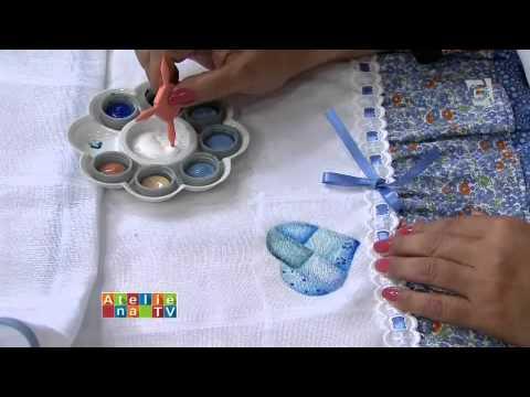 Programa Ateliê na TV - Pintura em fralda - Filó Frigo