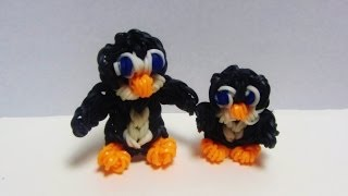 Rainbow Loom Charms PENGUIN BABY Using Loom / Bands