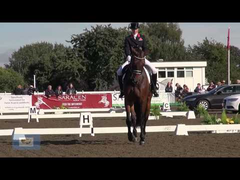 British Dressage Nationals 2013: Laura Tomlinson and Polar Bear