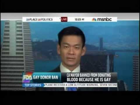 Mayor Evan Low: Advocates for Repeal of Gay Blood Ban on MSNBC