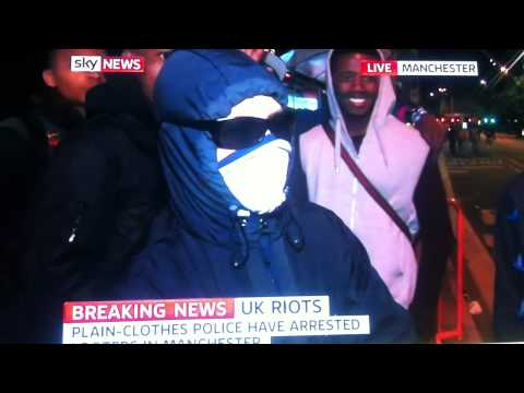 MANCHESTER RIOT YOUNG PERSON GIVES SHOCKING SKY  TV INTERVIEW ABOUT WHY HE IS RIOTING 9/8/2011