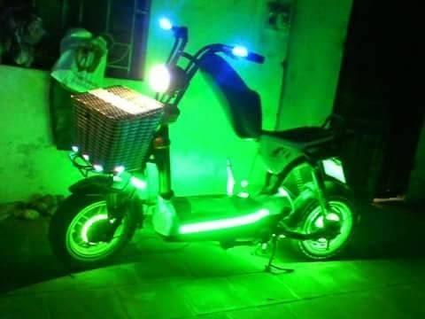 Xe đạp điện Giant độ đèn led đẹp nhất 2015