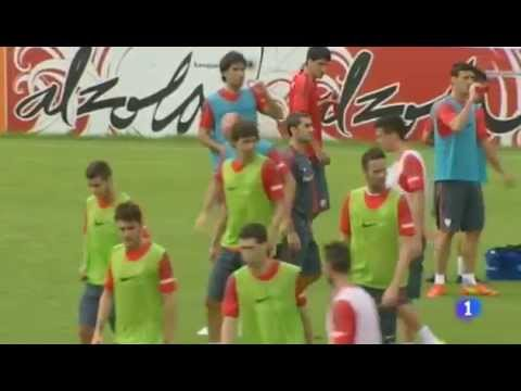 Mario Mandzukic first training with Atletico Madrid
