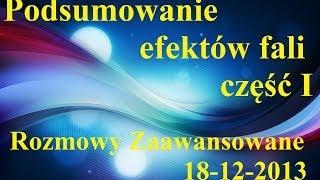 Podsumowanie efektów fali cz.I - Rozmowy Zaawansowane 18.12.2013