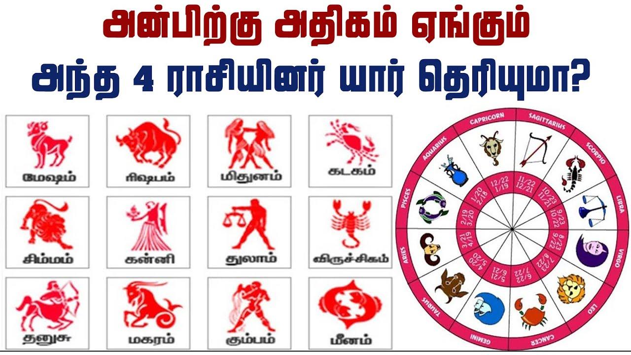 அன்பிற்கு அதிகம் ஏங்கும் அந்த 4 ராசியினர் யார் தெரியுமா? | Tamil Jothidam | Tamil Astrology