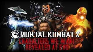 Mortal Kombat X: Character We Want Revealed At EVO 2014