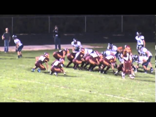 9-20-13 - This 3 yarder is Kyle Rosenbrock's 2nd TD of the game (Brush 27, Platte Valley 10)