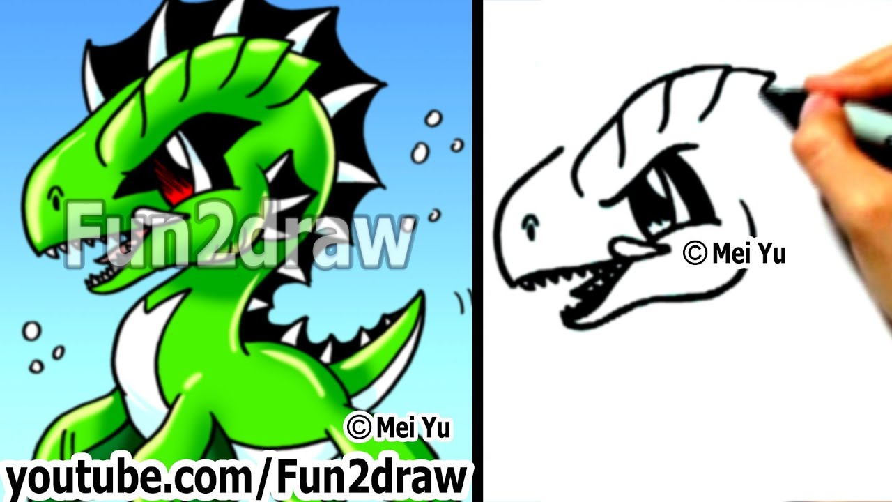 Easy cartoon drawings how to draw a cool sea monster drawing step
