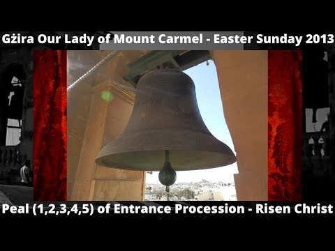Gzira (Malta) Parish Church Our Lady of Mount Carmel - Procession PEAL - 2013 5 Bells - Item 19