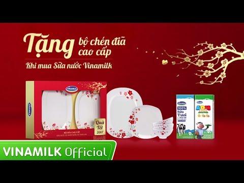 Khuyến mãi Tết – TẶNG bộ chén đĩa cao cấp khi mua sữa Vinamilk