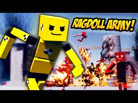 RAGDOLL ARMY TRIES TAKE ME DOWN IN OBSTACLE COURSE - Fun With Ragdolls Gameplay (Funny Moments)