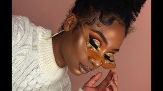 Colorful Gold Glitter Cut Crease Makeup Look   MakeupTiffanyJ